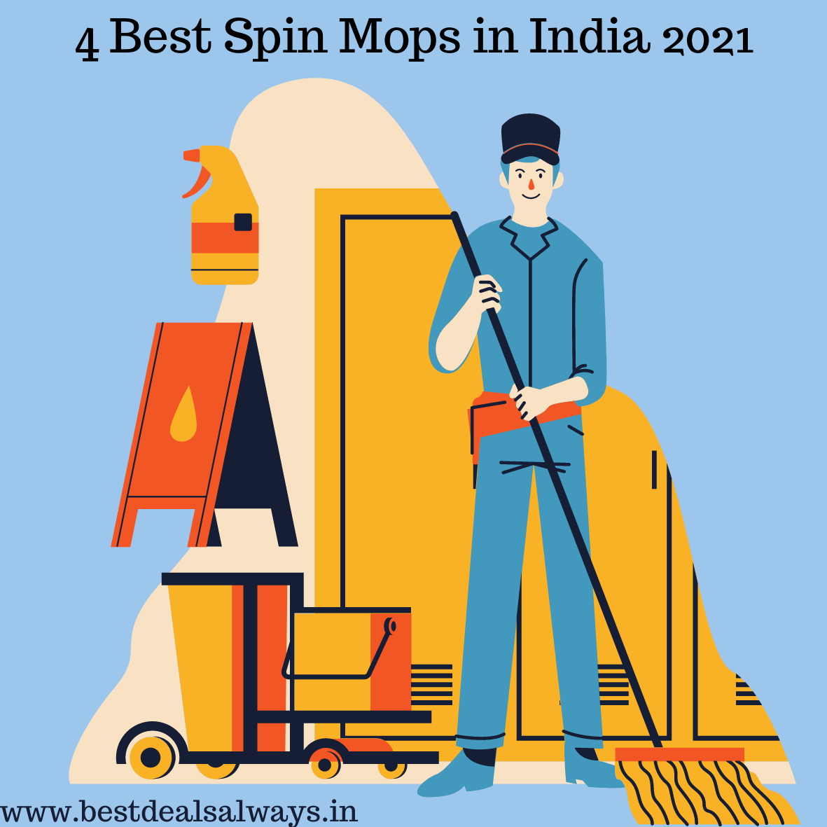 4 Best Spin Mops in India 2021-Buying Tips & Review